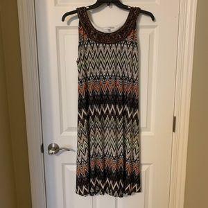 Dresses & Skirts - Multicolor chevron print dress